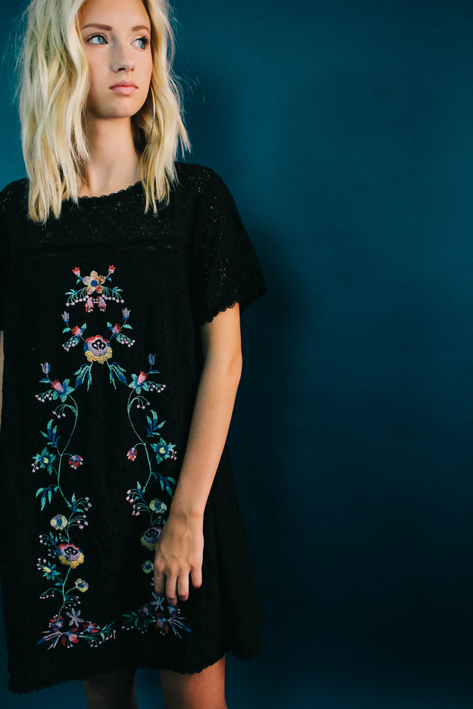 Vivian Lace Embroidered Dress