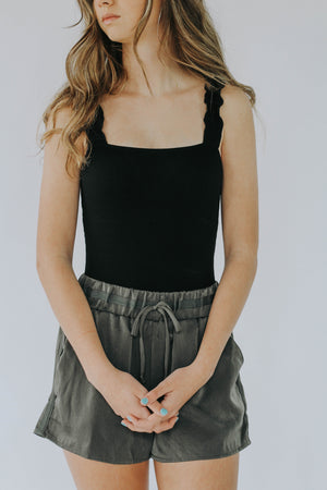 Ruffle Tank Top Bodysuit