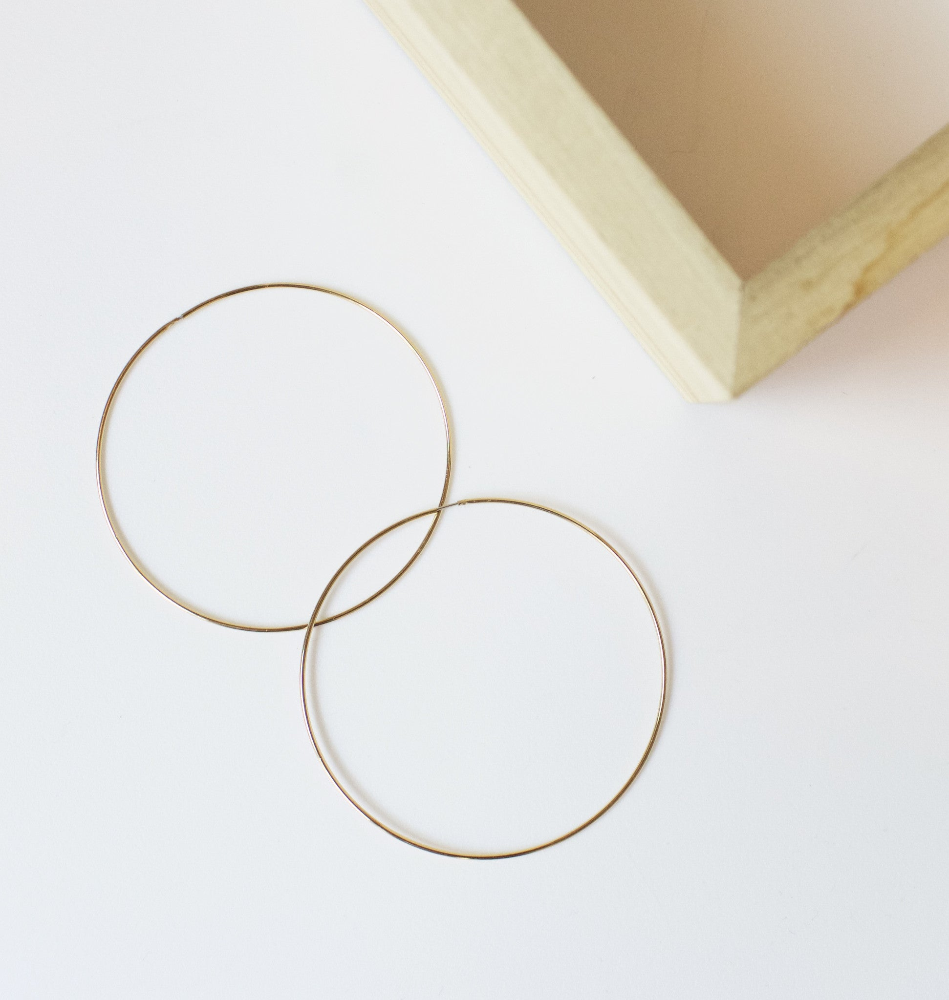 Halo Gold Hoops