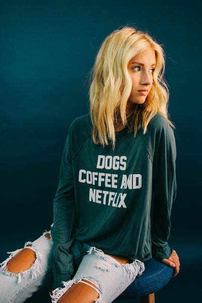 Dogs Coffee Netflix (TEAL)