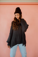 Jordan Dolman Sweater in Charcoal