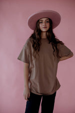 Stevens Long Tee in Taupe