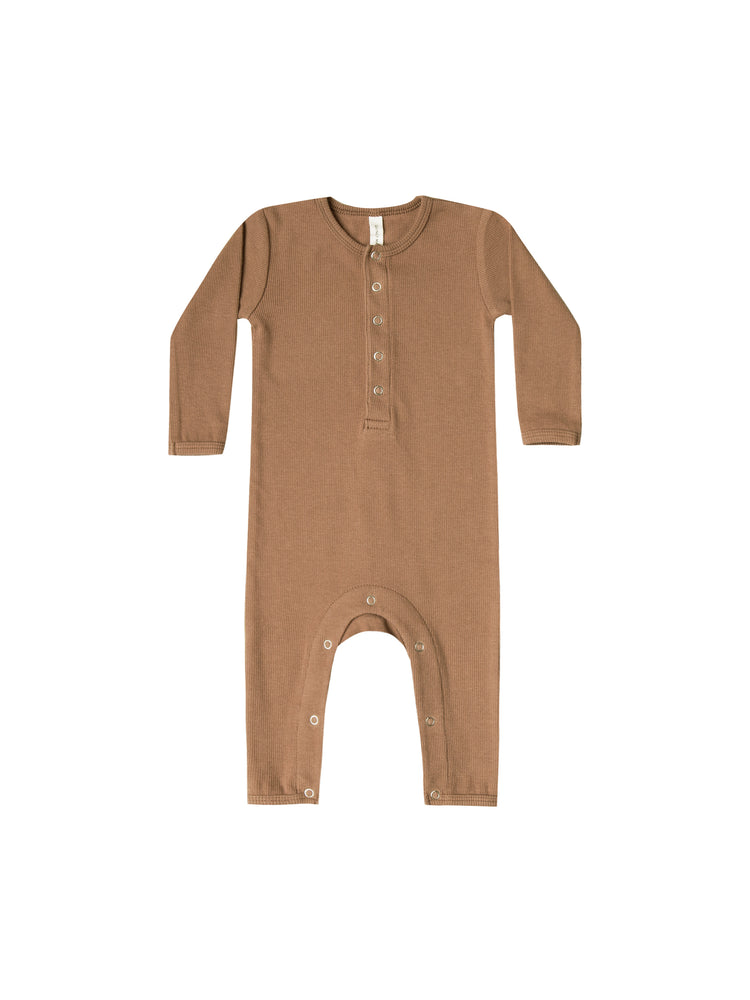 Quincy Mae: Ribbed Baby Jumpsuit (Copper)