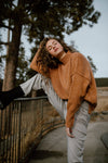 Miel Turtleneck Sweater in Camel