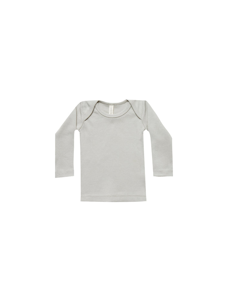 Quincy Mae: Ribbed Lap Tee (Ash)