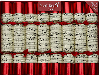 "Robin Reed Handmade Christmas Crackers 8 x 10"" - containing musical whistles (CCSUSA588)"