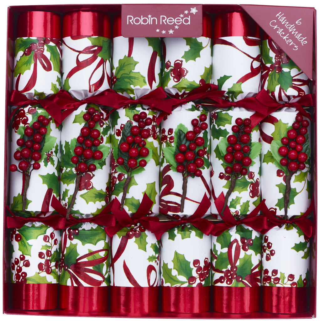 "6 x 12"" (30cm) Luxury Handmade Christmas Crackers by Robin Reed - Winter Berry (6012)"
