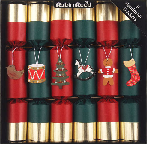 "6 x 12"" (30cm) Handmade Christmas Crackers by Robin Reed - Toy Shop (CCSUSA6075)"