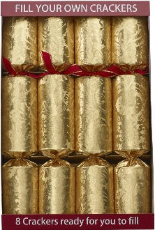 "8 x 12"" (30cm) Handmade Fill Your Own Christmas Crackers - GOLD"