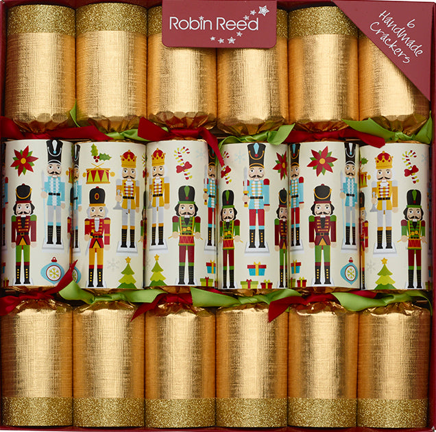 "6 x 12"" (30cm) Christmas Crackers NUTCRACKER COLLECTABLE ORNAMENTS - by Robin Reed (CCSUSA680)"