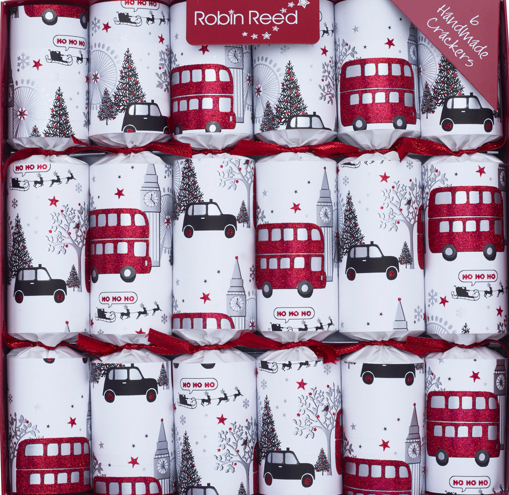 "6 x 12"" (30cm) Handmade Christmas Crackers by Robin Reed - London at Christmas"