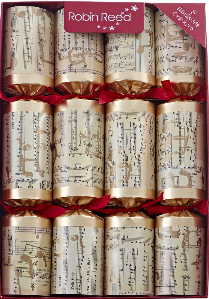"8 x 12"" Musical Christmas Crackers by Robin Reed - contains whistles (CCS688)"