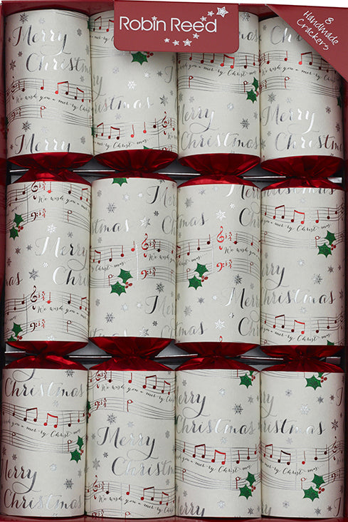 "8 x 13"" (33cm) Musical Christmas Crackers with CHIME BARS - Handmade by Robin Reed (71708)"