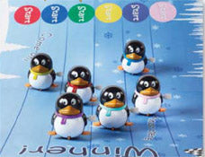 "6 x 13"" (33cm) Racing Penguin Christmas Crackers - Handmade by Robin Reed (71806)"