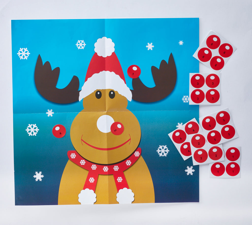 "6 x 12"" Handmade Christmas Crackers by Robin Reed - Pin the Nose (61842)"