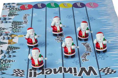 "6 x 13"" (33cm) Racing Santa Christmas Crackers - Handmade by Robin Reed (71808)"