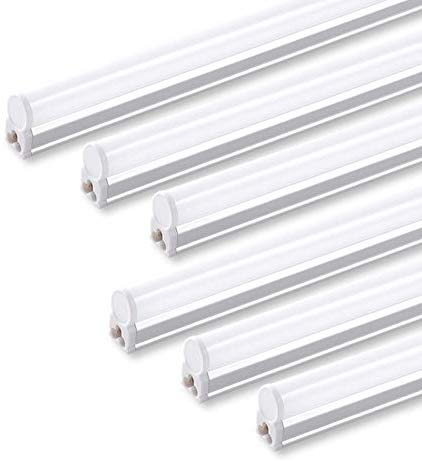 (Pack of 6) Barrina LED T5 Integrated Single Fixture, 4FT, 2200lm, 6500K (Super Bright White), 20W, Utility Shop Light, Ceiling and Under Cabinet Light, Corded electric with built-in ON/OFF switch - - Amazon.com