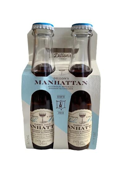 Dillon's Barrel Aged Manhattan 4 Pack - White Lily Diner