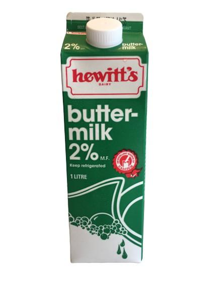 Hewitt's Buttermilk 1L Carton - White Lily Diner