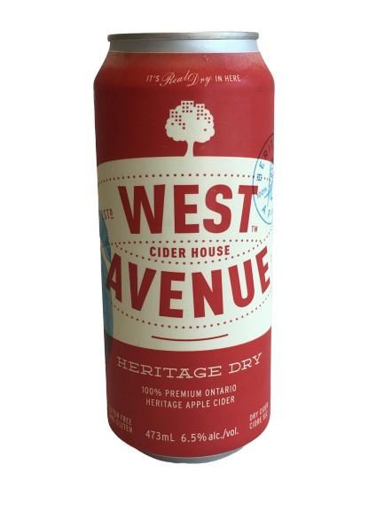 West Avenue Dry Heritage Cider 4-Pack 473ml Cans - White Lily Diner