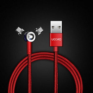 Ucord Lux Red Magnetic Charging Cable for USB C