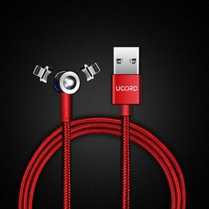 Ucord Lux Red Magnetic Charging Cable for Apple
