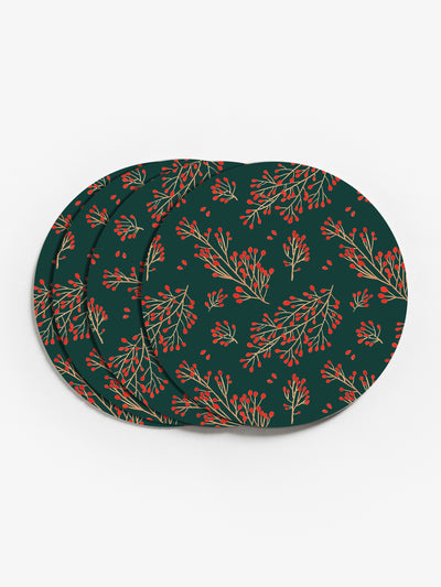 Branch and Berry Vinyl Coasters (Set of 4)