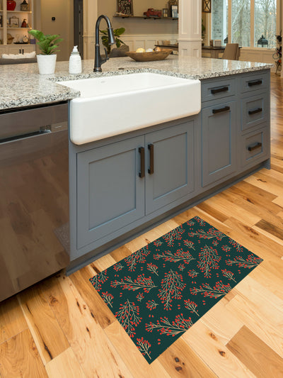 Branch and Berry Vinyl Kitchen Mat