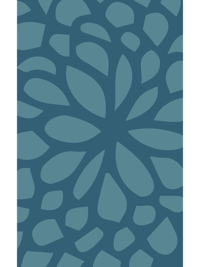 Geometric Blossoms Vinyl Floor Mat