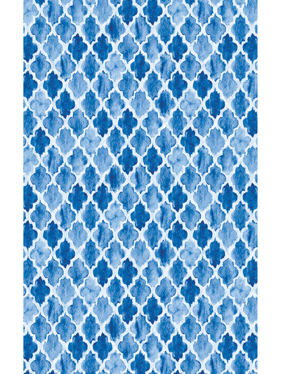 Moroccan Watercolor Vinyl Living Room Rug