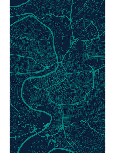 Nashville Map Vinyl Indoor Outdoor Rug