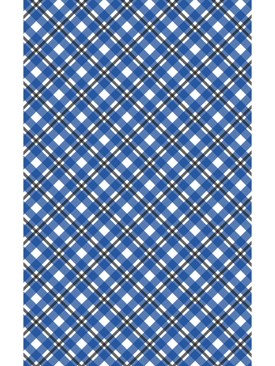 Past-Time Plaids Vintage Vinyl Area Rug