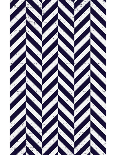 Shifted Chevron Vinyl Living Room Rug