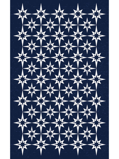 Starburst Vinyl Indoor Outdoor Rug