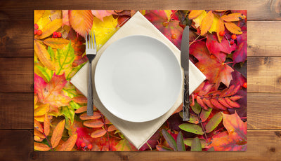 Autumn Color Collision Vinyl Placemats