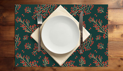 Branch and Berry Vinyl Placemats (set of 4)