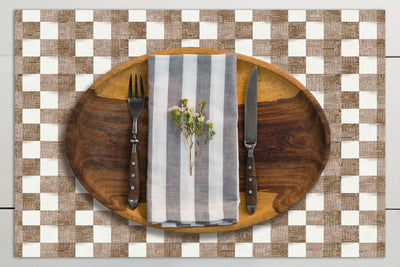 Checkered Stripes Vinyl Placemats