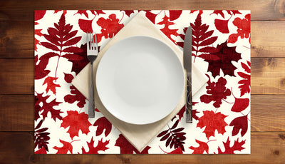 Falling Leaves Vinyl Placemats