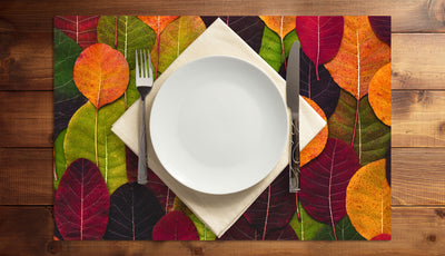 Leaves Galore Vinyl Placemats