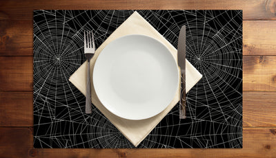 Spiderweb Vinyl Placemats