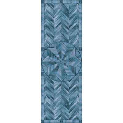 Wooden Star Inlay Vinyl Runner Rug