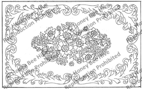 1027: Anemone Scroll, Offered by Honey Bee Hive