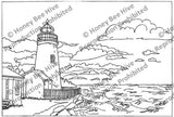 Pemaquid Light House, rug hooking pattern