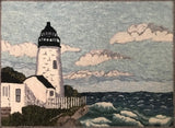 Pemaquid Light House, rug hooked by Linda Cooney