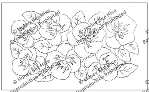 1336-S: Pansy Patch, Offered by Honey Bee Hive