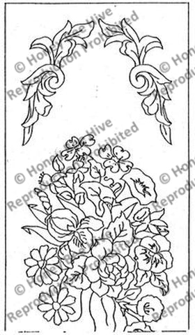 1374: Floral Window Seat, Offered by Honey Bee Hive