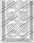 Celtic Knots, rug hooking pattern