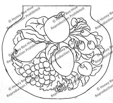 B508: Contoured Fruit, Offered by Honey Bee Hive