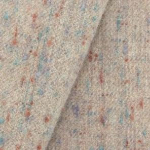 Wool fabric for rug hooking, Soft Tan Heather With Flecks Of Rust & Turquoise, offered by Honey Bee Hive