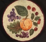 CS538-C: Peach, Grapes, Cherry, Hooked by Margaret Cowell